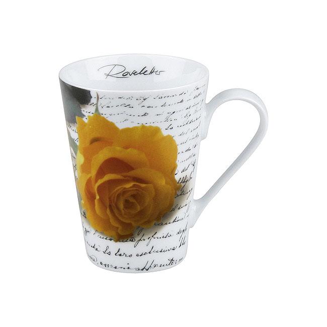 《富樂雅居》德國Konitz馬克杯-黃玫瑰