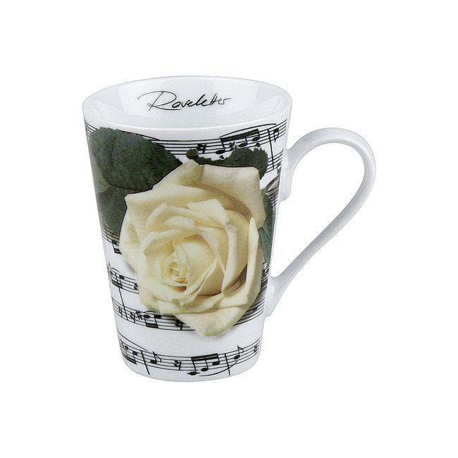 《富樂雅居》玫瑰花系列~德國Konitz馬克杯-白玫瑰