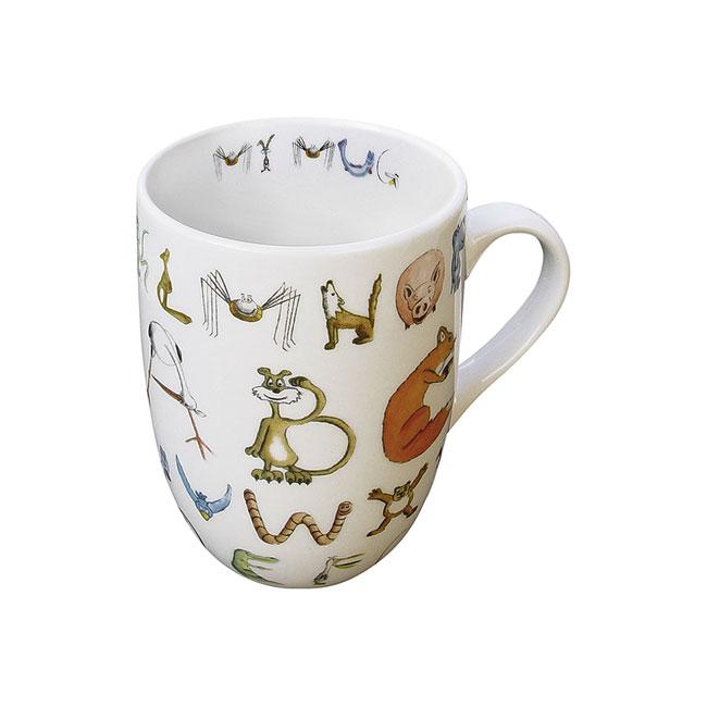 《富樂雅居》ABC系列~德國Konitz馬克杯-ABC英文字母學習馬克杯