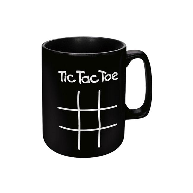 《富樂雅居》德國Konitz 黑馬克杯-井字遊戲 Tic Tac Toe(附粉筆)