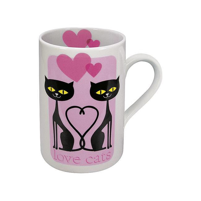 《富樂雅居》可愛動物系列~德國Konitz馬克杯-情侶貓馬克杯