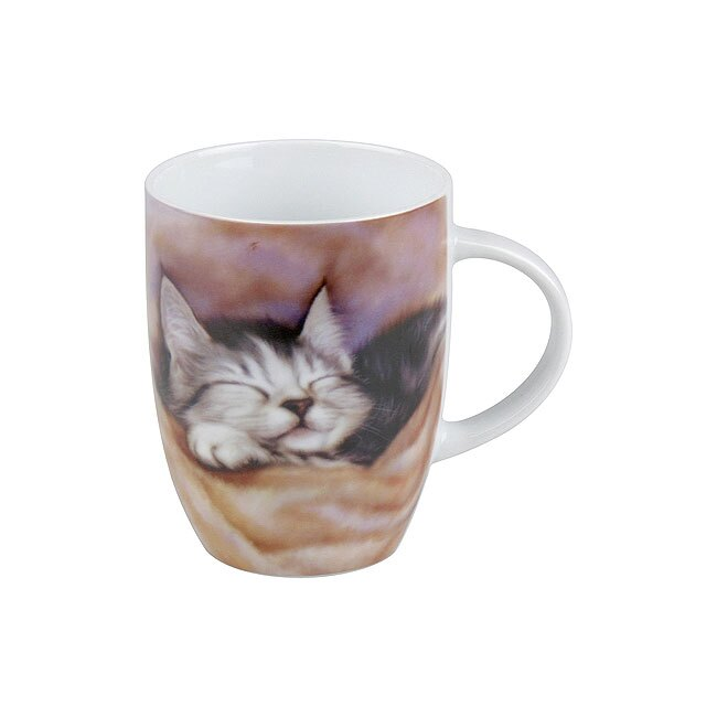 《富樂雅居》可愛動物系列~德國Konitz馬克杯-瞌睡小貓