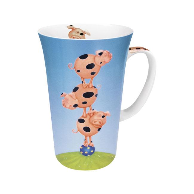 《富樂雅居》可愛動物系列~德國Konitz馬克杯-三隻小豬大拿鐵杯