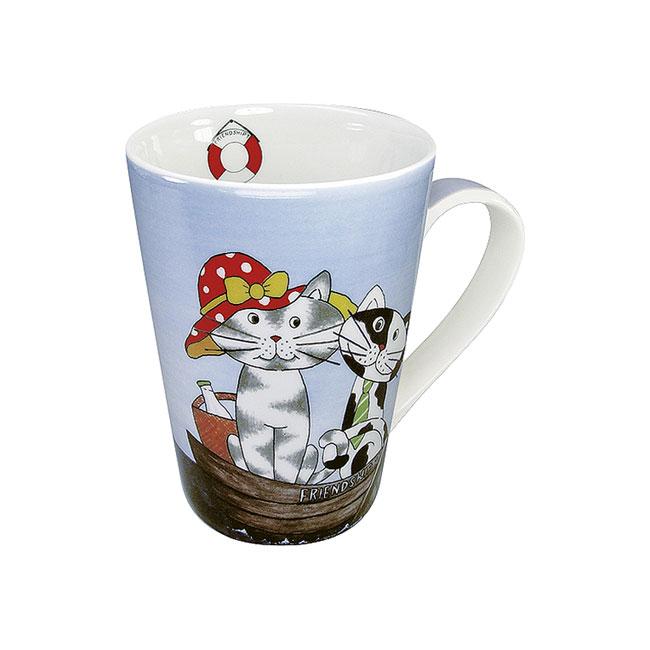 《富樂雅居》可愛動物系列~德國Konitz馬克杯-貓咪好朋友