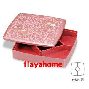《富樂雅居》日本製 宇野千代 櫻花系列 一段式 漆器 果盒 便當盒 / 雅櫻