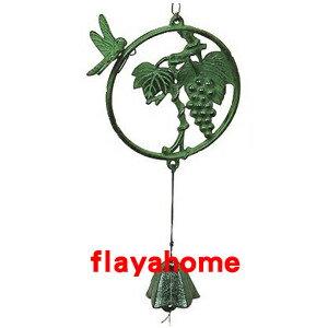 《富樂雅居》日本製 南部鐵器 及源鑄造 盛榮堂 Oigen 葡萄風鈴
