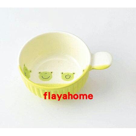 《富樂雅居》日本製 萬古燒 小青蛙 陶瓷焗烤盤 (圓)