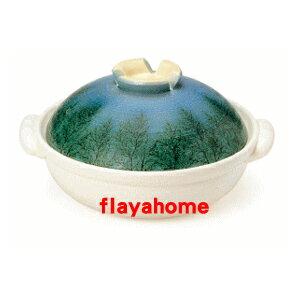 《富樂雅居》日本製 萬古燒 木立 8號 砂鍋 ( 適合2~3人使用 )