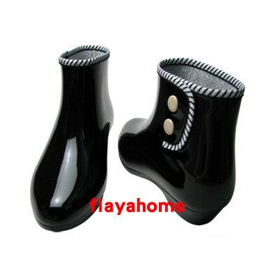 《富樂雅居》日本製 雨鞋 / 經典時尚黑