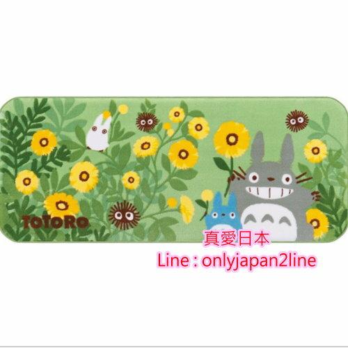 【真愛日本】16091000070止滑長地毯墊-灰龍貓向日葵綠   龍貓 TOTORO 豆豆龍  地墊 居家 正品  預購