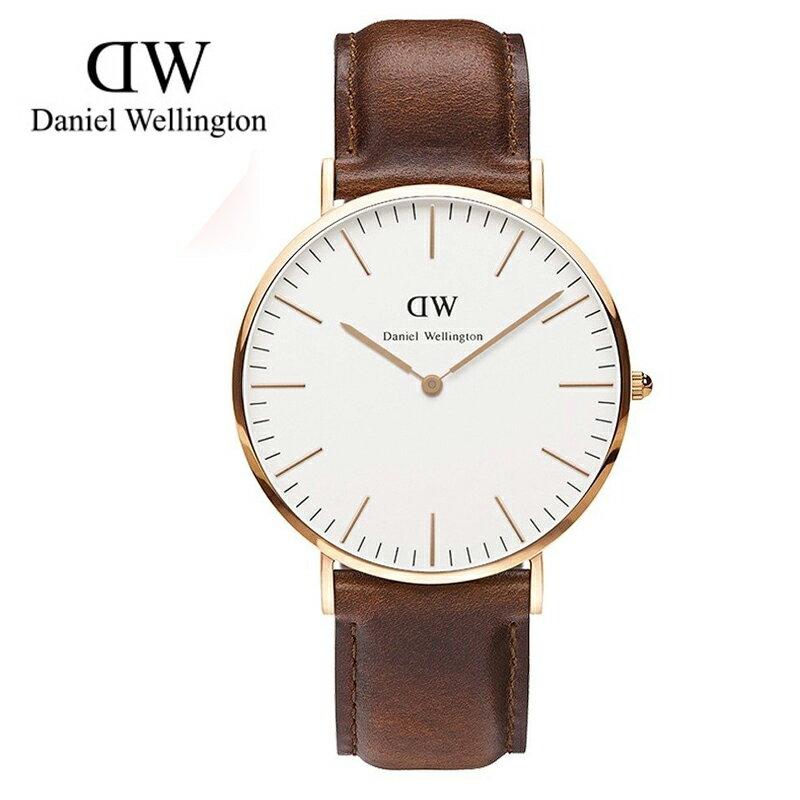 瑞典正品代購 Daniel Wellington 0106DW 玫瑰金 真皮 錶帶 男女錶 手錶腕錶 40MM 0