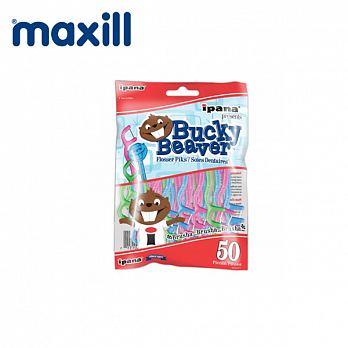 加拿大【美適Maxill】iPana兒童安全牙線棒(50入)