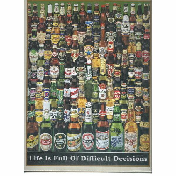 ~P2 拼圖~啤酒瓶夜光拼圖 Life is Full of Difficult Deci