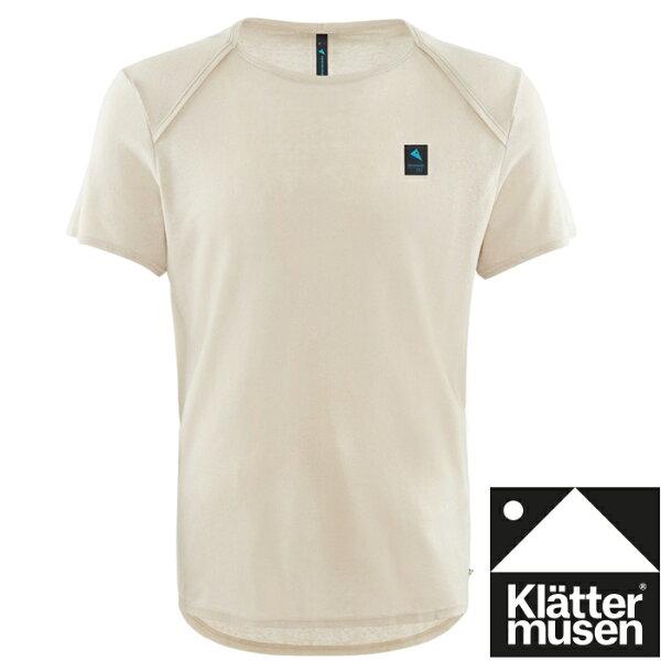 Klattermusen攀山鼠登山排汗衣天絲+亞麻短袖T恤Vile男KM20610M皎月白M