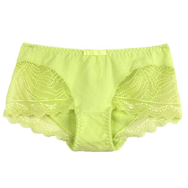 【夢蒂兒】夢幻水漾集中系列平口褲(春芽綠) 1