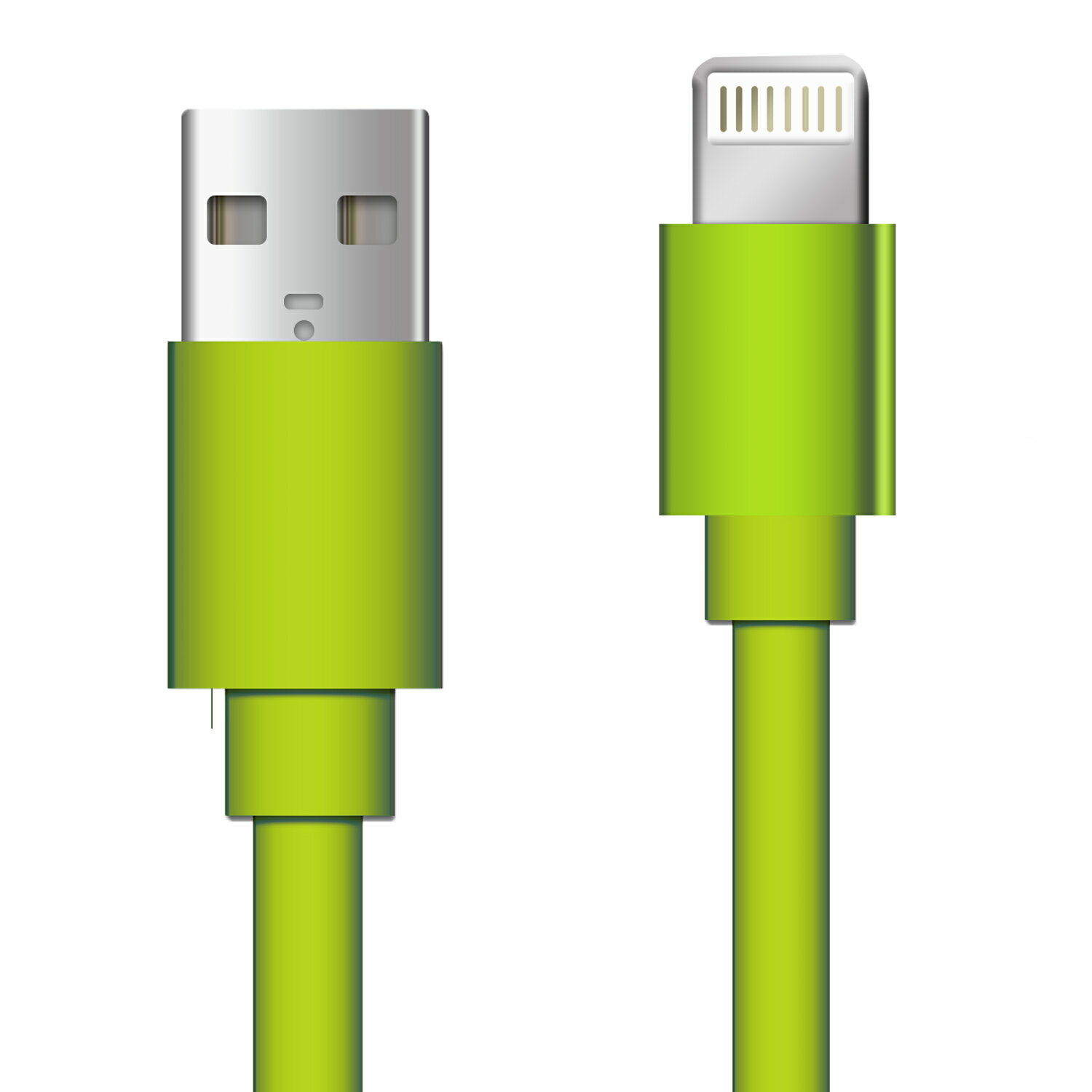 8 Pin Lightning to USB 3ft Flat Tangle Free Data Sync and Charge Cable for Apple Ipod, Iphone 5/5s/5se/6/6s/7, Ipad 1