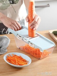 家用馬鈴薯絲切絲器多功能刨絲器黃瓜切片器切細絲粗絲廚房切菜神器 聖誕節全館免運