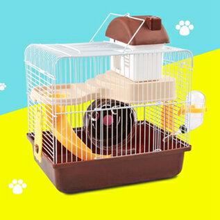 倉鼠籠小倉鼠的籠子用品齊全窩雙層豪華超大別墅小城堡小田園 聖誕節全館免運