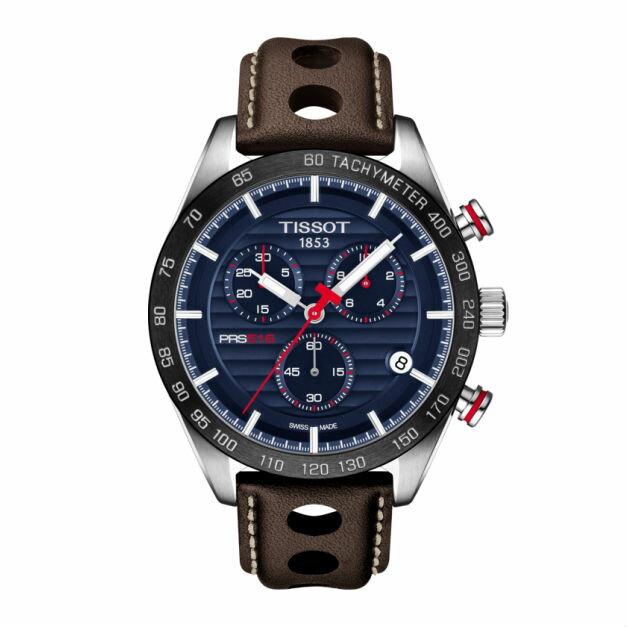 TISSOT天梭T1004171604100 PRS516 計時時尚腕錶/藍面42mm
