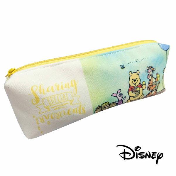 【日本進口】小熊維尼 Winnie the Pooh 雙層 筆袋 鉛筆盒 迪士尼 Disney - 523484