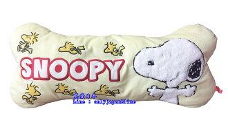 【真愛日本】16062000007日本限定造型抱枕-SN骨頭黃  史努比 SNOOPY 娃娃 玩偶 靠枕