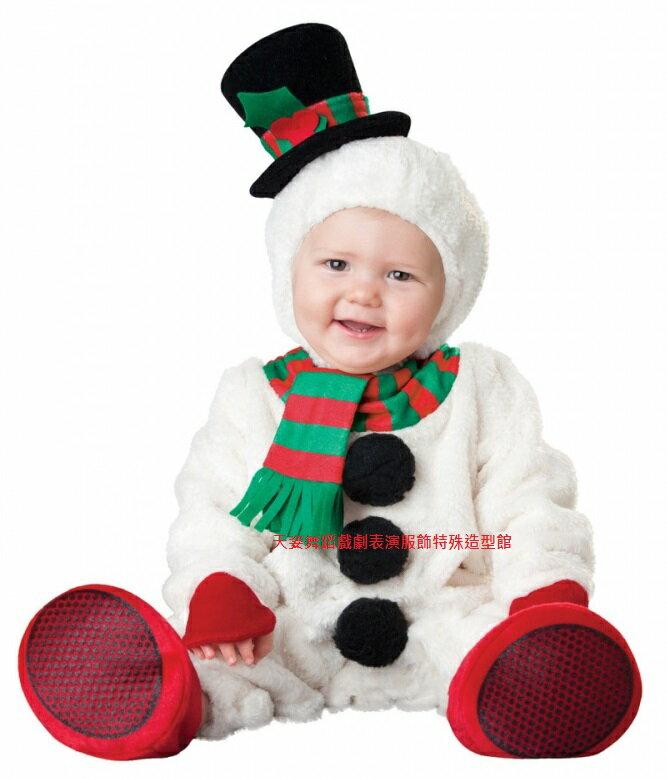 BABY004聖誕小雪人寶寶造型服聖誕節外出棉服男女加厚嬰兒連身套裝