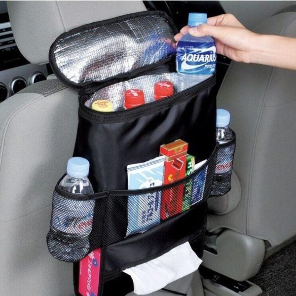 汽車椅背置物袋 保溫袋 面紙盒 多功能 收納掛袋 收納袋 置物袋 後背汽車座椅靠背儲物 【RR022】
