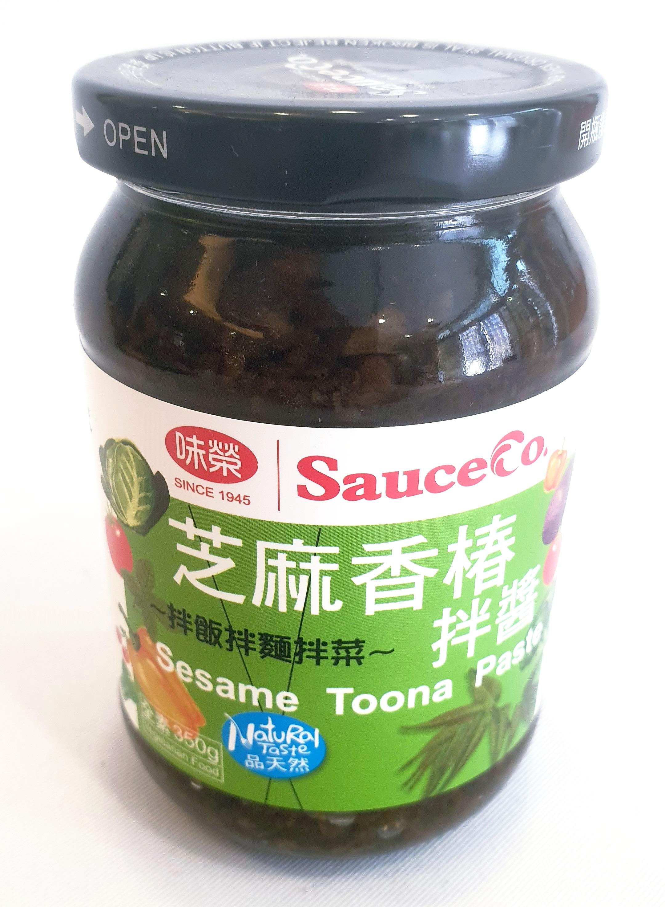 味榮 芝麻香椿拌醬 全素 350公克/罐 (台灣製造)