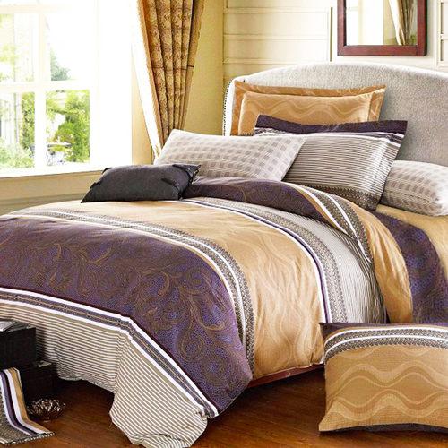 柔絲絨 六件式鋪棉兩用被床罩組-柏拉圖/加大/ 哇哇購