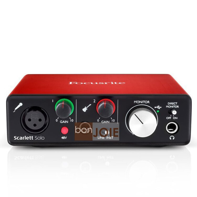 ::bonJOIE:: 美國進口 第二代 Focusrite Scarlett Solo (2nd Gen) USB 錄音介面 (全新盒裝) Audio Interface 錄音盒 錄音卡