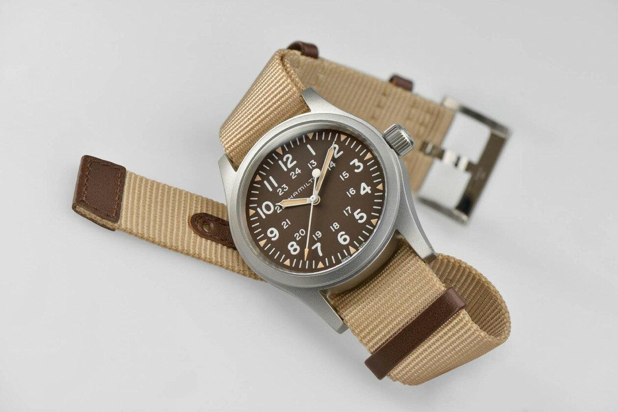 Hamilton 漢米爾頓 Khaki Field 卡其野戰系列軍事腕錶 H69429901 卡其色系 38mm 3