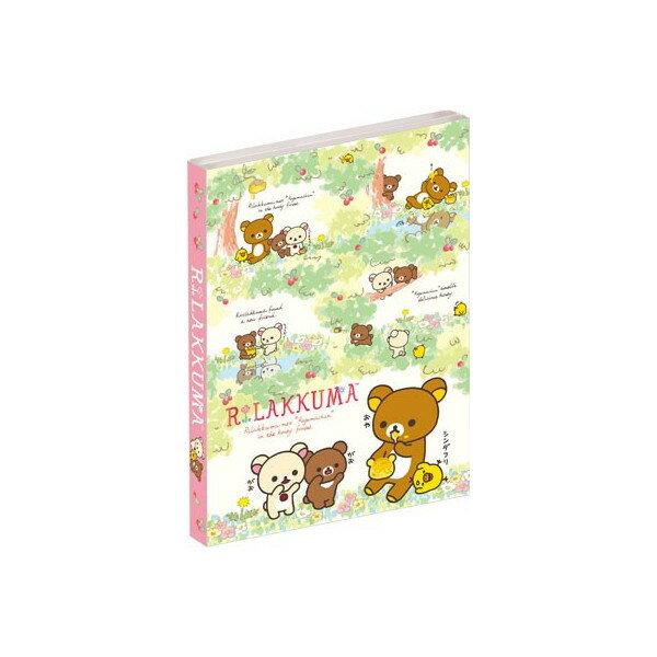 【真愛日本】16031500033  懶熊四折便條本大-森林 拉拉熊 懶熊 文具 事務用品 便條本 MEMO
