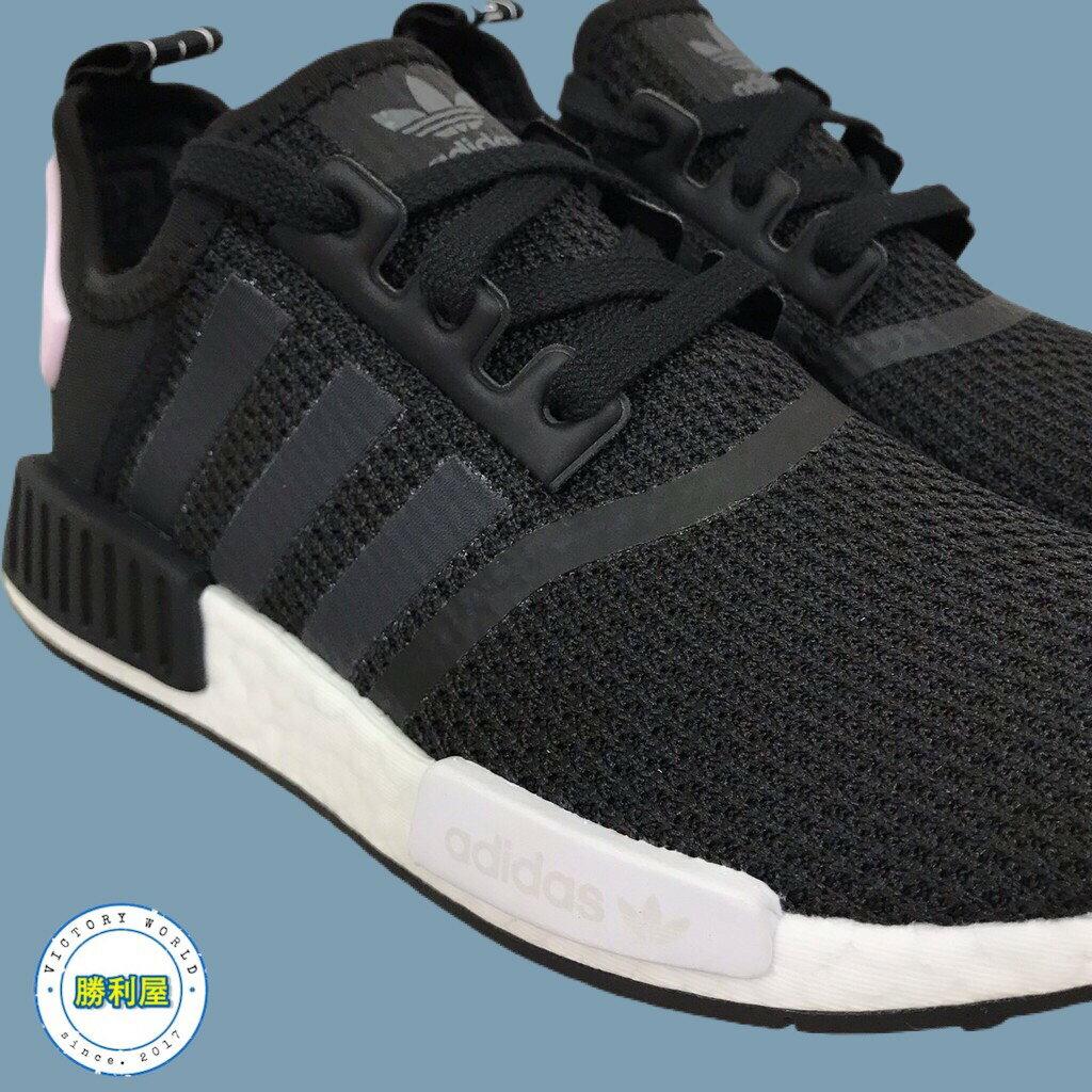 【ADIDAS】NMD R1 W 女鞋 休閒鞋 黑白 黑粉 BOOST 熱門款 B37649【勝利屋】 1