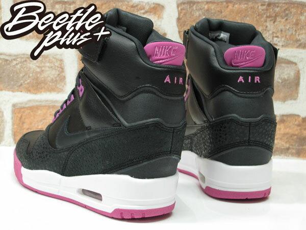 BEETLE PLUS 全新 NIKE AIR REVOLUTION SKY HI 黑 桃紫 女鞋 內增高 楔型鞋 599410-001 2
