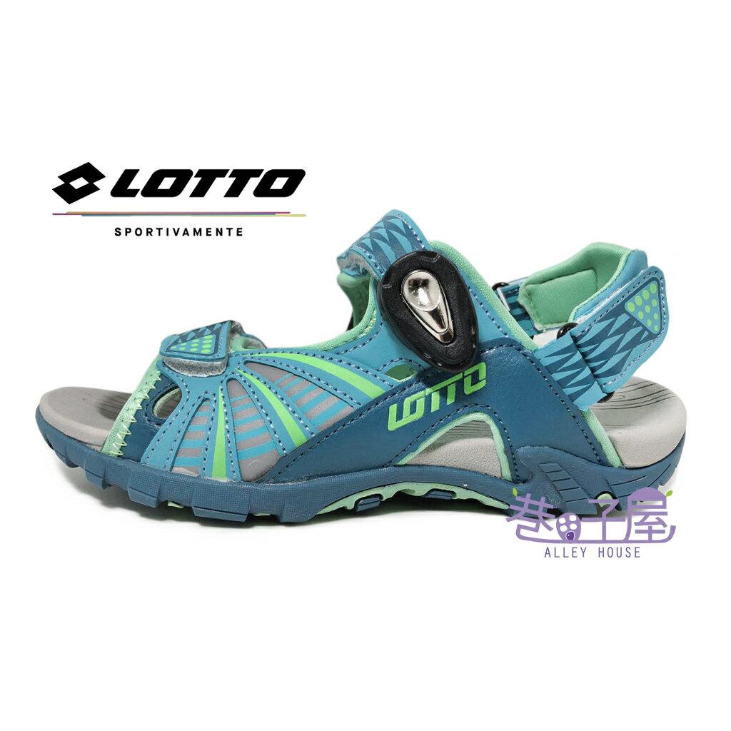 【巷子屋】義大利第一品牌-LOTTO樂得 女款透氣排水機能磁扣兩穿式涼拖鞋 涼鞋 拖鞋 [5225] 松石綠 超值價$398