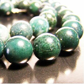 [水草瑪瑙]天然寶石 10mm圓形珠 diy飾品散珠