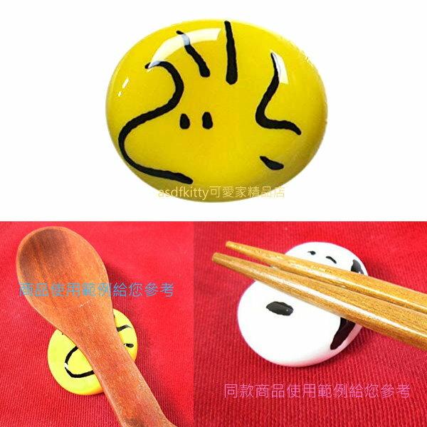 asdfkitty可愛家☆日本金正陶器 SNOOPY史努比的糊塗塔克大臉 陶瓷筷架-日本製