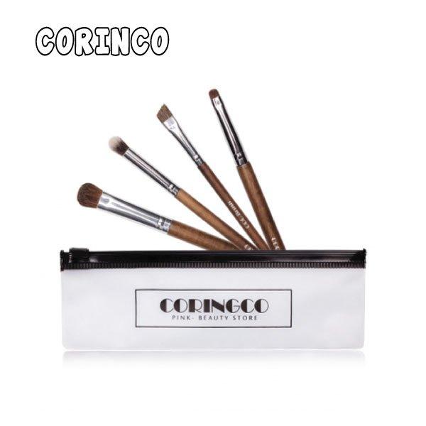 Coringco眼部刷具4件組(附袋子)【櫻桃飾品】【20436】