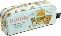 X射線【C705752】懶熊Rilakkuma 野餐筆袋,美妝小物包/筆袋/面紙包/化妝包/零錢包/收納包/皮夾/手機袋/鑰匙包