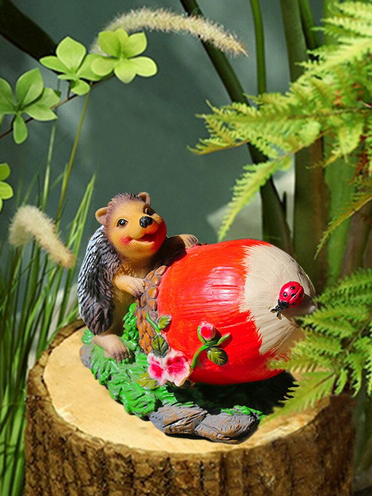 仿真刺猬擺件創意設計別墅花園布置庭院裝飾園林小品景觀小動物