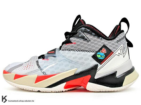 2020 火箭隊 Russell Westbrook 個人簽名鞋款 NIKE AIR JORDAN WHY NOT ZER0.3 PF NOISE 灰白黑 忍者龜 西河 MVP 大三元製造機 前掌 ZOOM TURBO 分割氣墊 MVP 愛地球 UNITE (CD3002-101) 0120 0