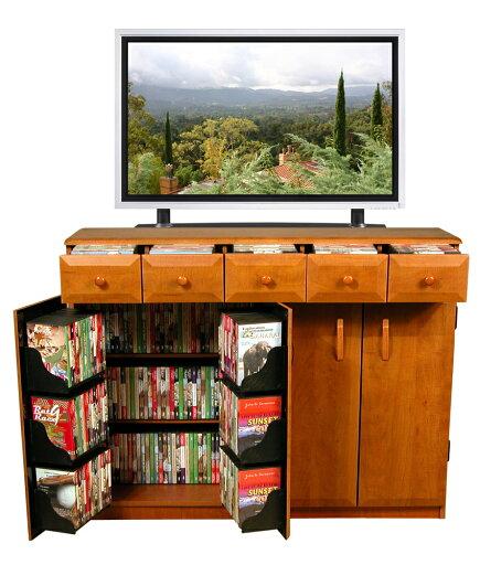 Venture Horizon Multimedia TV Cabinet With Drawers Cherry dd240f7c708fc8dc30ae3c4e06933792