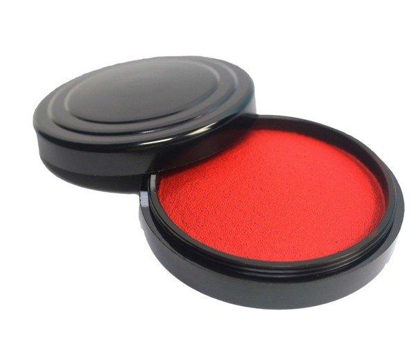 萬年紅艾絨印泥 (小)直徑約5.2cm / 一盒12個入(定90) MIT製 萬年紅印泥 朱肉 1
