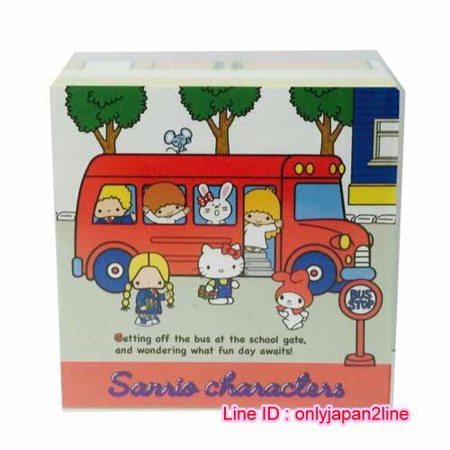 【真愛日本】16111900021方形便條本-70'S MX-公車紅   三麗鷗 Hello Kitty 凱蒂貓 信紙 便條紙 文具