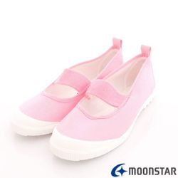 日本 MOONSTAR 兒童抗菌室內鞋/幼稚園-粉(15cm-18cm)(日本進口)