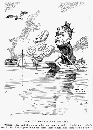 Carry Nation (1846-1911) NnE Moore American Temperance Agitator Mrs Nation At The AmericaS Cup Yacht Races In 1901 Poster Print by (24 x 36) 3a92d9716d489bd9a17ad0c749467ca2