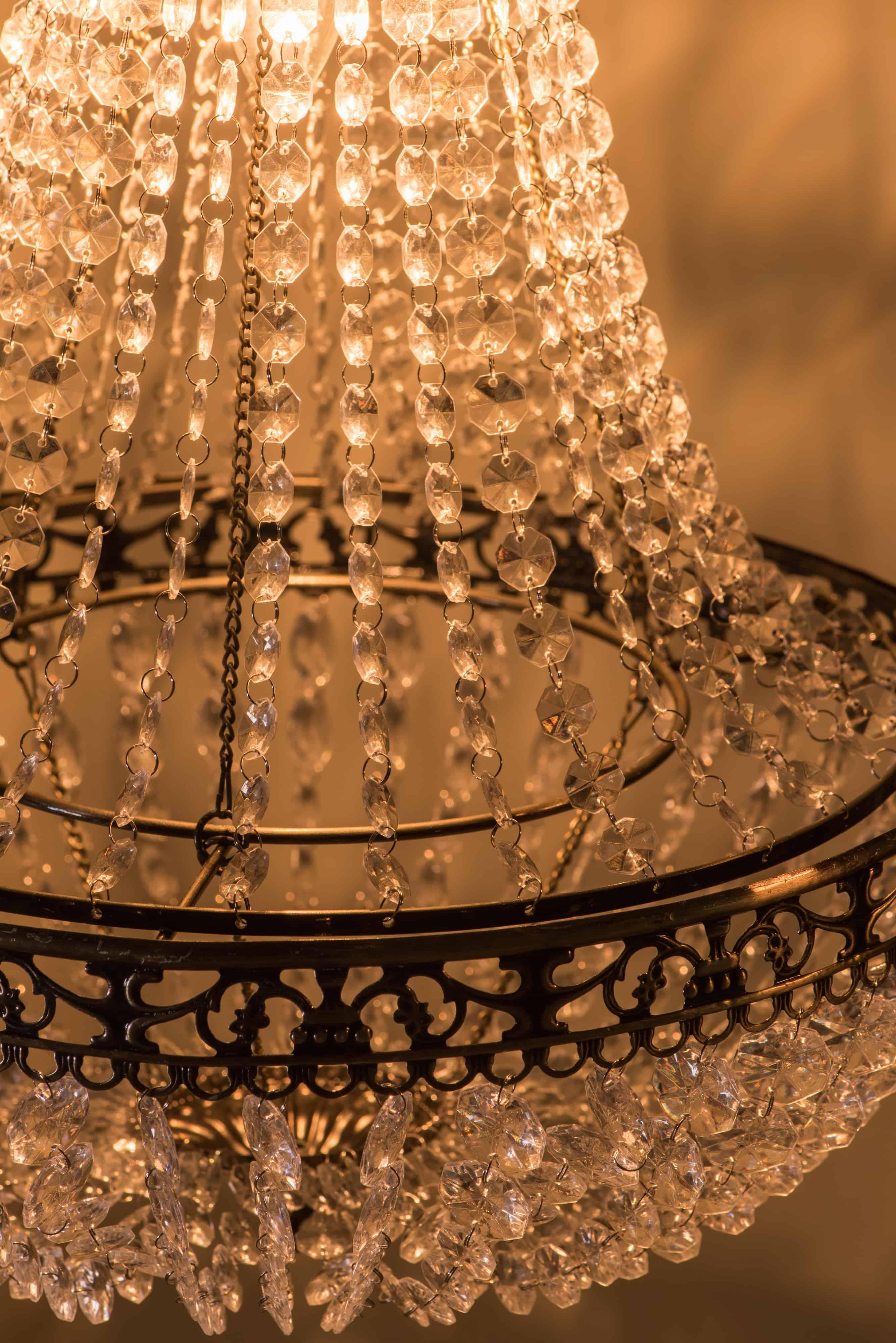 古銅華麗透明壓克力珠吊燈-BNL00050 7