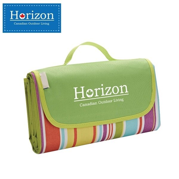 加拿大 天際線 Horizon 多 防潮沙灘野餐墊 加贈防水輕巧收納袋 180*145-彩虹綠【紫貝殼】