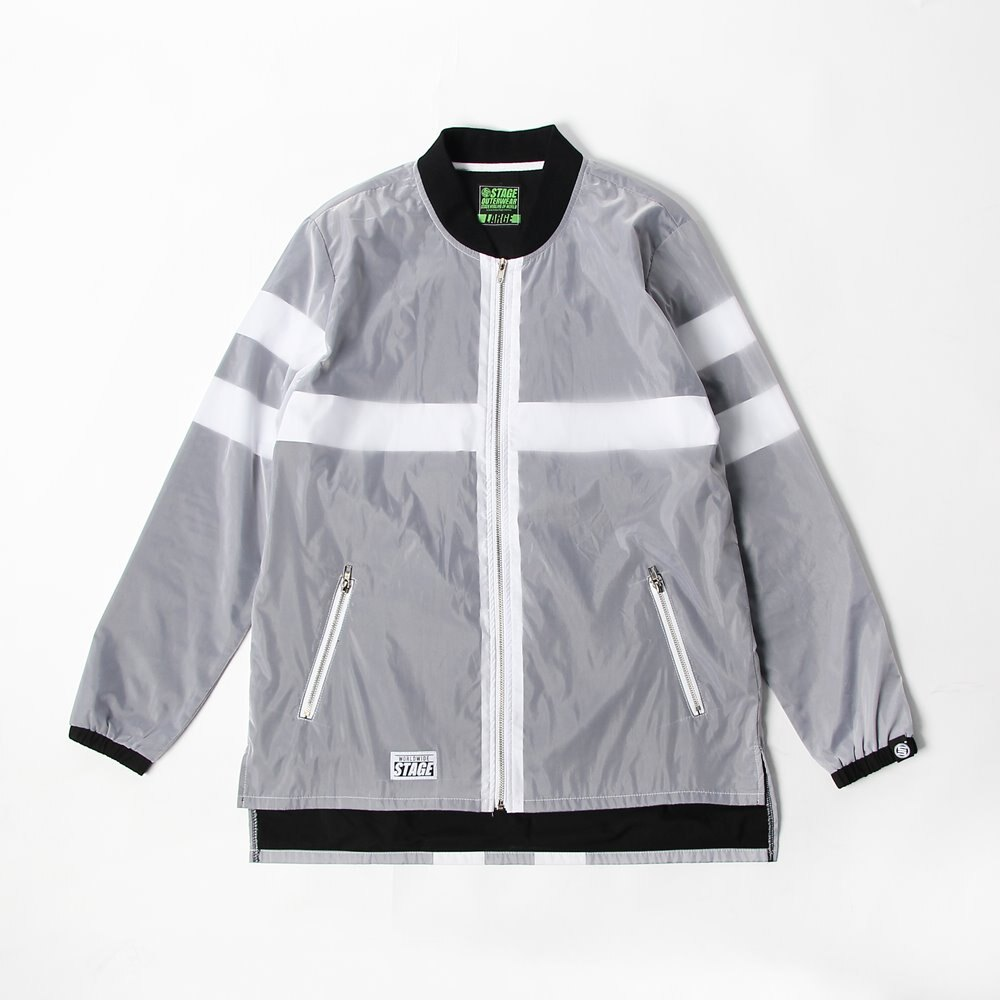 STAGE MONOCHROME WINDBREAKER JKT 黑白色 0