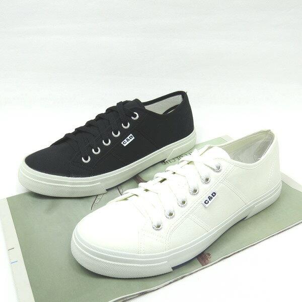 彩虹屋美鞋:*免運*男舒適休閒運動帆布鞋11-0511(白黑)*[彩虹屋]*現+預